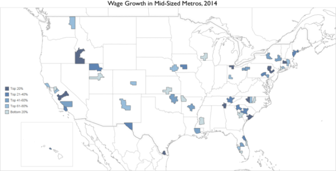Wage Growth Map Medium Metros
